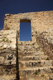Steps of Ayios Georgis castle Stock Image