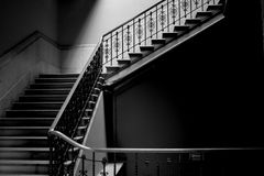 Steps in black and white Royalty Free Stock Photos