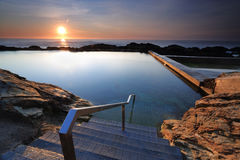The steps into Blue Pool Bermagui Royalty Free Stock Photo