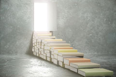Steps from books into the open door Stock Photography