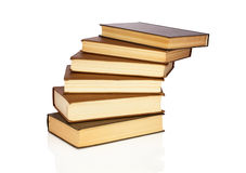 Steps from books. Books stacked one by one in the form of steps Stock Photography