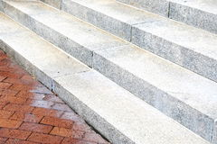 Steps and a brick wall Royalty Free Stock Image