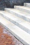 Steps and a brick wall Royalty Free Stock Photos