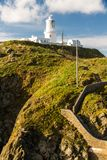 Steps and bridge leading to Strumble Head Lighthouse on the west Royalty Free Stock Photos