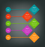 Steps for business info-graphics Royalty Free Stock Photo