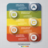 5 Steps Business infographic template. Vector illustration. Stock Photos