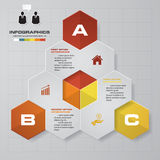 3 Steps Business infographic template. Royalty Free Stock Image