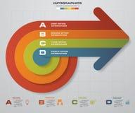 4 steps business presentation template.Arrow shape banners template. Vector. Stock Photo