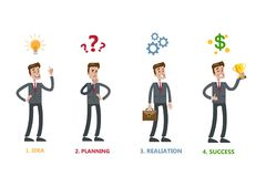 Steps for business. vector illustration