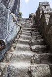 Steps carved into the rock in Machu Picchu, Peruvian  Historical Royalty Free Stock Photography