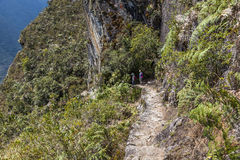 Steps carved into the rock in Machu Picchu, Peruvian  Historical Royalty Free Stock Image
