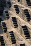 Steps at Chand Baori Stepwell in Jaipur Royalty Free Stock Photo