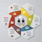 6 steps chart layout for sample. Text&data. Design clean template/graphic or website layout Stock Image