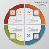 4 steps chart template/graphic or website layout. Design clean number banners template/graphic or website layout. Vector royalty free illustration