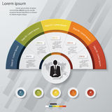 5 steps chart template/graphic or website layout. Royalty Free Stock Images