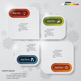 4 steps chart template/graphic or website layout. Design clean number banners template/graphic or website layout. Vector stock illustration