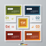 4 steps chart template/graphic or website layout. Royalty Free Stock Image