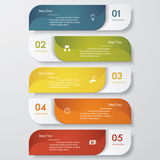 4 steps chart template/graphic or website layout. Royalty Free Stock Photo