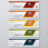 5 steps chart template/graphic or website layout. Royalty Free Stock Photos