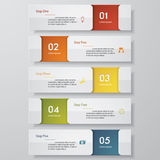 5 steps chart template/graphic or website layout. Design clean number banners template/graphic or website layout. Vector Stock Images