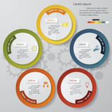 5 steps chart template/graphic or website layout. Stock Photos