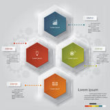 4 steps chart template/graphic or website layout. Design clean number banners template/graphic or website layout. 5 steps. Vector stock illustration