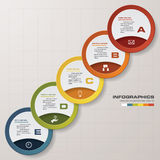 5 steps chart template/graphic or website layout. Design clean number banners template/graphic or website layout. Vector stock illustration