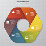6 steps chart template/graphic or website layout. Design clean number banners template/graphic or website layout. Vector vector illustration