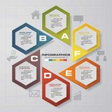 6 steps chart template/graphic or website layout. Design clean number banners template/graphic or website layout. Vector royalty free illustration