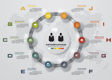 10 steps chart template/graphic or website layout. Modern infographic template with 10 steps order. EPS10. Can be used for work flow layout, diagram, number Stock Illustration