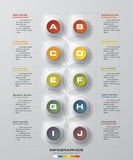10 Steps chart template/graphic or website layout. Royalty Free Stock Image