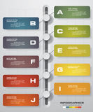 10 Steps chart template/graphic or website layout. Vector royalty free illustration