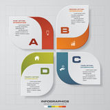 4 Steps chart template/graphic or website layout. Vector vector illustration