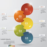 5 steps chart template/graphic or website layout. Stock Photography