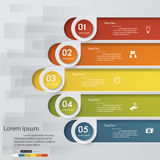 5 steps chart template/graphic or website layout. Stock Images