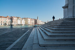 Steps of the church st mary of health venice veneto europe Royalty Free Stock Images