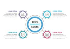 4 Steps - Circle Infographics Royalty Free Stock Photo