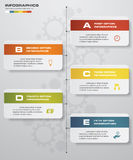 5 steps clean number banners template/graphic or website layout/timeline. Stock Photography