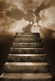 Steps and clouds Royalty Free Stock Image