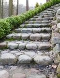 Steps from cobble-stones Royalty Free Stock Photo