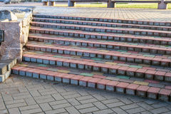 Steps of colored concrete bars Stock Photo