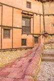Steps and colorfull houses in medieval Albarracin Stock Photos