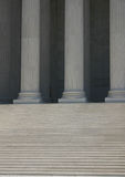 Steps and  columns (supreme court). Washington, dc Royalty Free Stock Images