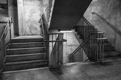 Steps. Concrete steps in a parking garage in Harrisburg Pennsylvania Stock Images