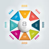 8 steps connected circle, round infographic. Royalty Free Stock Photography