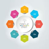 8 steps connected circle, round infographic. Royalty Free Stock Image
