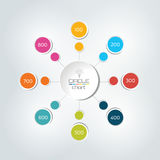 8 steps connected circle, round infographic. Royalty Free Stock Photo
