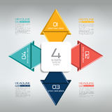 4 steps connected infographic. Stock Photography