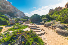 Steps in Costa Paradiso Stock Image