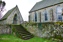 Steps in a country churchyard Royalty Free Stock Photography